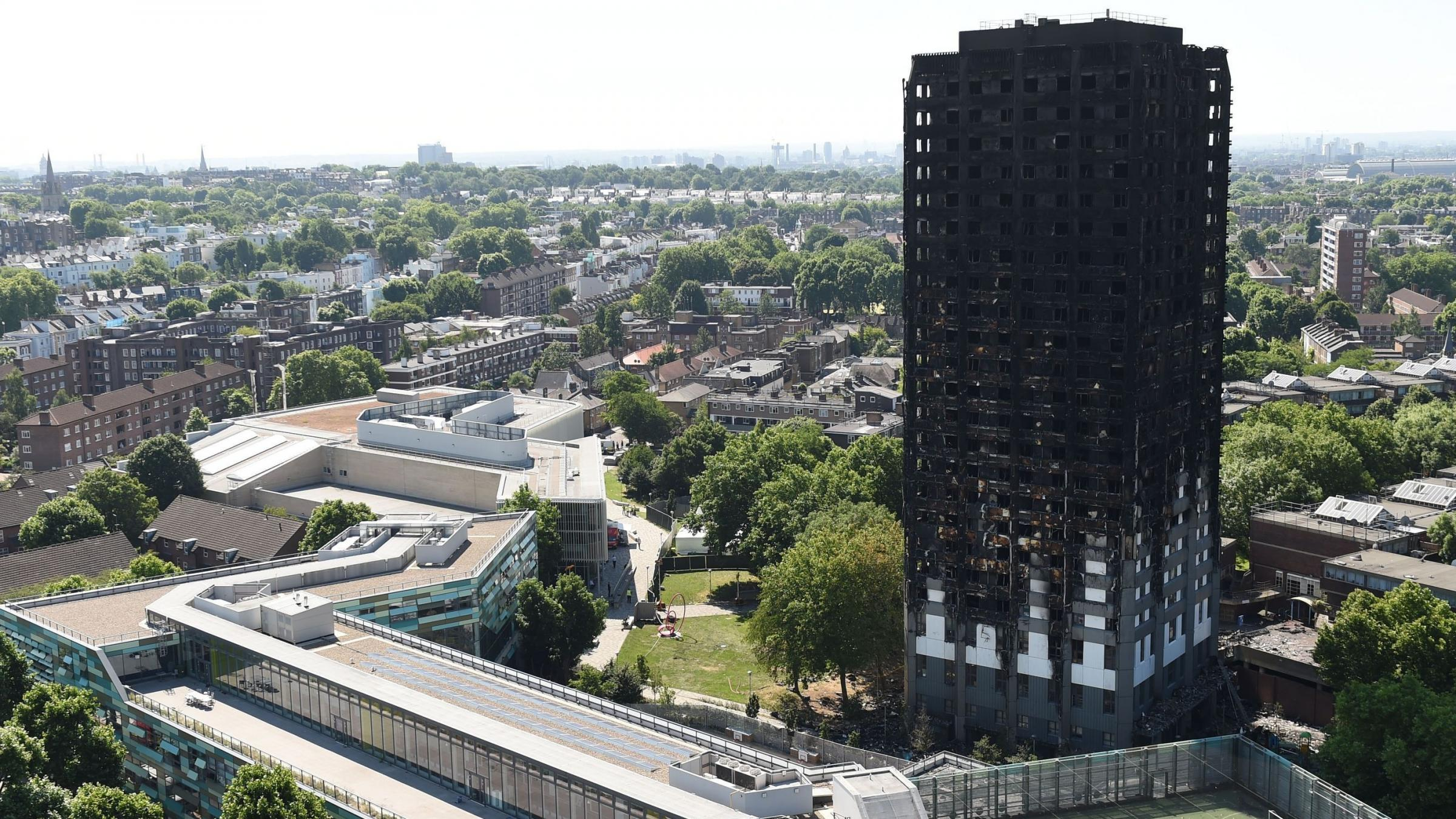 Harrowing footage from the inside of Grenfell Tower has been released