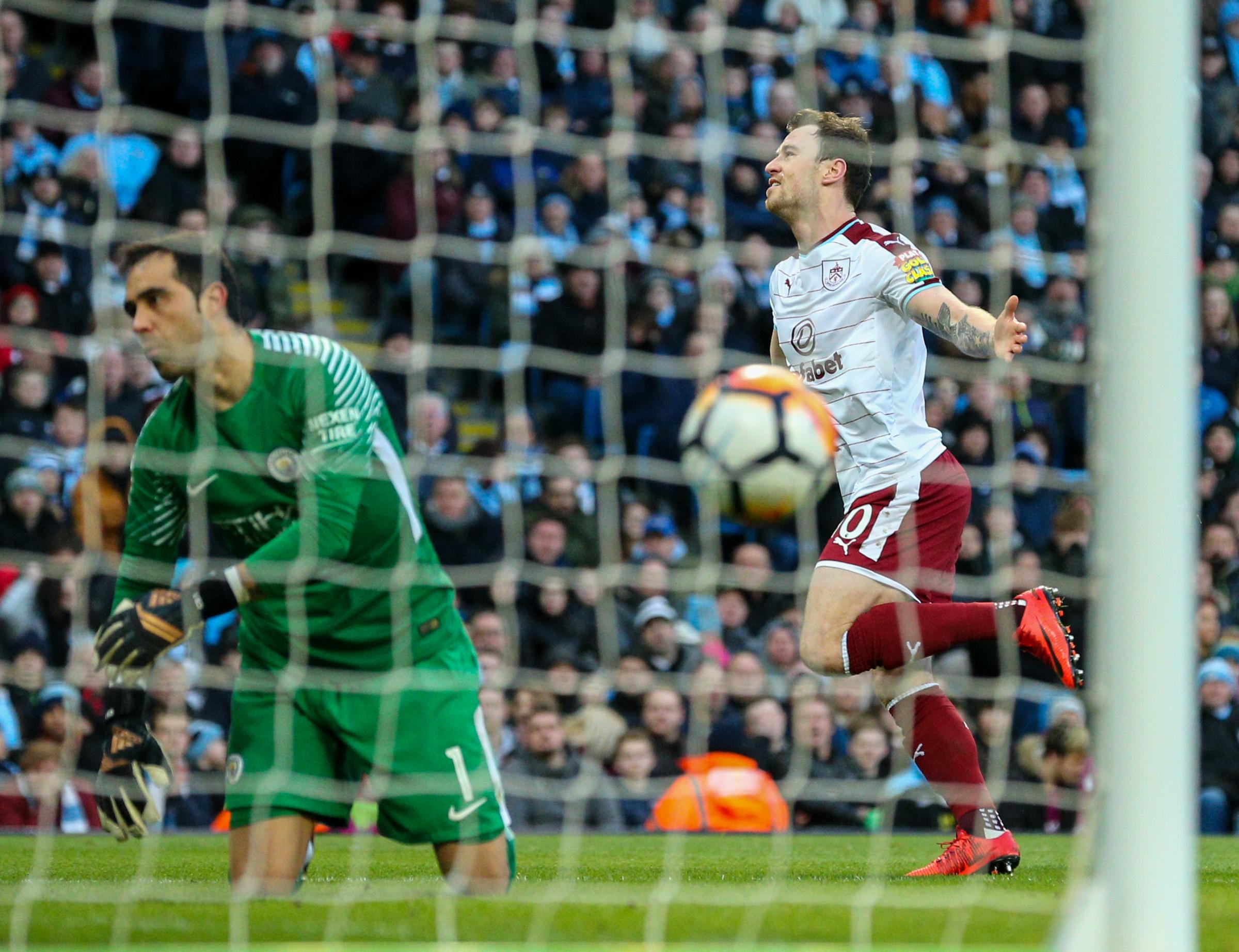 Joe Hart suffers as Manchester City put five past Burnley